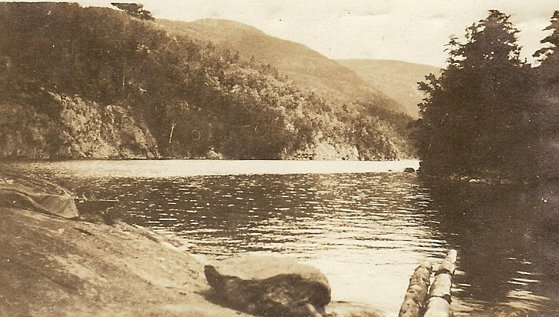 Apperson photo of the Narrows at Lake George, c. 1915